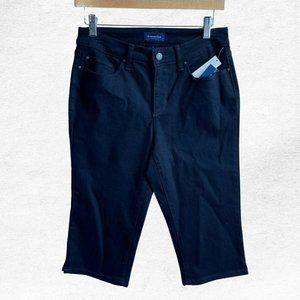 NWT Charter Club Denim Black Skimmer Jeans Capris